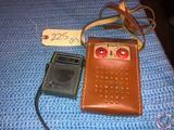 Jewel Transistor Radio and Westinghouse 6 Transistro Radio Model No. H707P6GPA