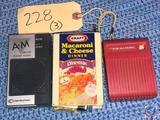 Vintage Kraft Macaroni and Cheese Transistor Radio AM/FM Tuner Receiver, Realistic Transistor Radio