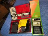 Kensington 6 Transistor Radio Gift Set and Baylor 6 Transistor Radio in Black Leather Case