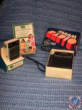Sears Solid State 9 Transistor AM Radio in Original Box and Vintage General Electric AM/FM Radio in