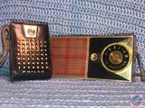 Vintage General Electric 6 Transistor Radio Model No. P716B and Philco 6 Transistor Radio in Black