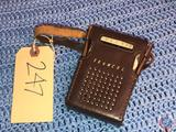 Vintage Trancel 6 Transistor Radio in Black Leather Case Model No. 6TP-346