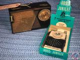 Ross Jubilee 7 Transistor Radio in Original Box Model No. RE777 and Vintage General Electric All