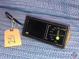 Vintage 1096s JVC Model No. 8000 Space Age Triangular Yellow Portable AM Radio