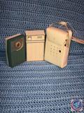 Vintage RCA Victor Impac Transistor Radio, RCA Solid State Radio and General Electric 6 Transistor