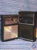 General Electric 8 Transistor Radio and General Electric AM/FM Radio Model No. 7-2500B