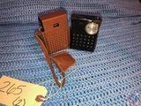 Vintage Admiral 8 Transistor Radio Model No. Y2513GP and Hitachi 6 Transistor Radio Model No. TH640