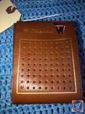 Vintage 1961 Silvertone 6 Transistor Radio Model No. 2207 in Brown Leather Case