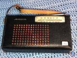 Vintage Midland Police Band Transistor Radio in Black Leather Case
