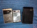 Remington 8 Transistor Radio, Aiwa 6 Transistor Radio Model No. AR-666, and RealTone 6 Transistor