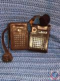 Continental 8 Transistor Radio and Maco Transistor Radio Both in Brown Leather Cases