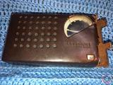 National 6 Transistor Radio in Brown Leather Case
