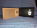 Vintage Sylvania Transistor Radio and Black and Silver 8 Transistor Radio