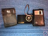 Westinghouse Transistor Radio in Black Leather Case, Hoffman Transistor Radio in Black Leather Case