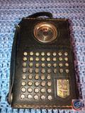 Vintage Magnavox Transistor Radio Model AM-60 in Black Leather Case