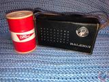 Certified Novelty Canister Radio and Raleigh 12 Transistor Radio