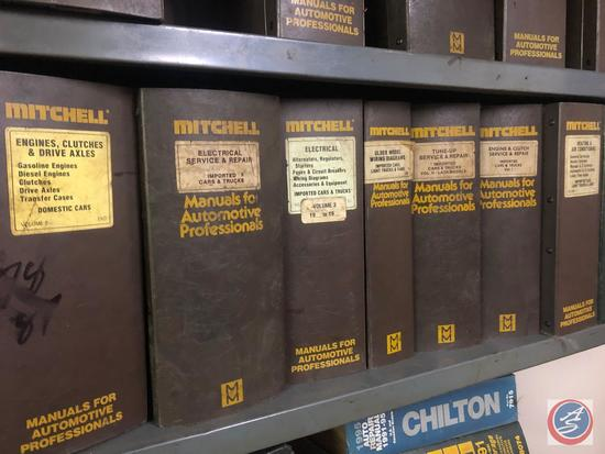Assorted Mitchell Electrical, Engine Emissions and Tune Up Manuals for Unknown Years and Chilton