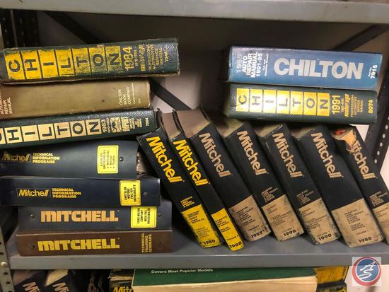 Assorted Mitchell and Chilton Engine Repair Manuals for '80's and '90's Models