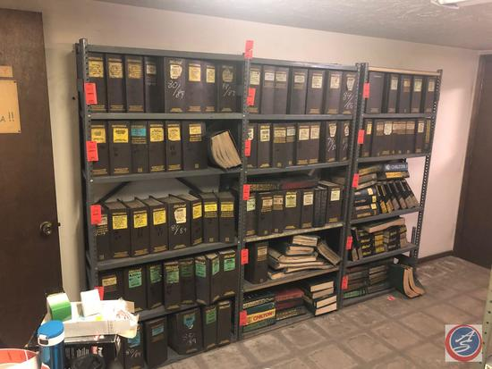 """{{3X$BID}} Five Tier Shelving Units Measuring 36"""" X 12"""" X 75"""" [[CONTENTS NOT INCLUDED]]"""