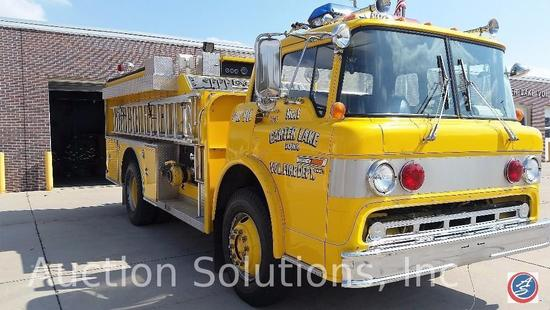 Year: 1984 Make: Ford Model: C800 Vehicle Type: Fire Truck Mileage: Body Type: Smeal Converted Cab