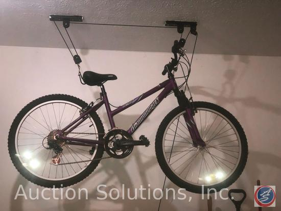 Outlook Diamondback Bicycle with Pulley System [[ATTACHED TO CEILING, PLEASE BRING PROPER TOOLS FOR