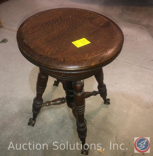 Antique Chicago Tonk Swiveling Ball Claw Piano Stool