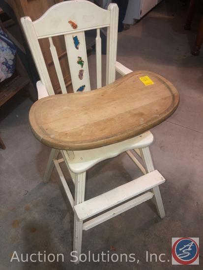 "Vintage Children's High Chair Measuring 40"" Tall"