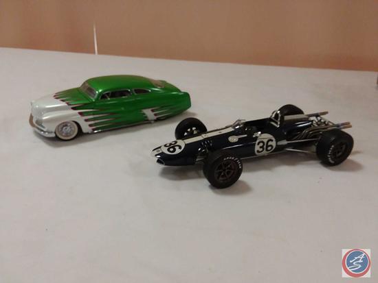1996 Mattel Hot Wheels Legends '49 Mercury Replica Die-Cast Model Car; Carousel Race Car