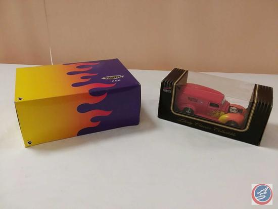 (2) Scale Replica Die-Cast Model Cars {IOB}: 1996 Mattel Hot Wheels Legends '49 Mercury; Liberty