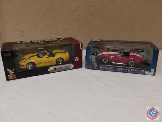 (2) 1:18 Scale Replica Die-Cast Model Cars {IOB}: Shelby Series 1; and L.E. Shelby Cobra 427 S/C