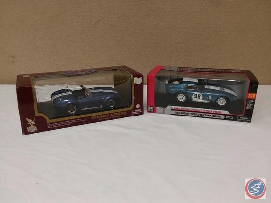 (2) 1:18 Scale Replica Die-Cast Model Cars {IOB}: 1964 Shelby Cobra 427 S/C; 1965 Shelby Cobra