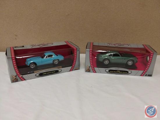 (2) 1:18 Scale Replica Die-Cast Model Cars {IOB}: 1960 Lotus Elite; 1961 Aston Martin DB4GT Zagato