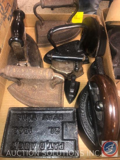 Vintage Perfection Iron, Cast Iron Clothing Iron Marked Geneva, Asbestos Sad Iron 72-B, Small
