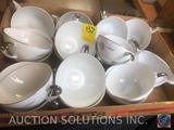 (16) Mikasa Fine China Tea Cups Style Primrose 8194 and Mikasa Fine China Cream Pitcher Style