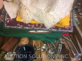 Vintage Androck Oval Wooden Pastry Roller, Vintage Metal Henis Press, Vintage Mouli Grater Marked