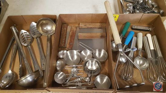 Misc. Kitchen Utensils: Dough Cutters; Ice Cream Scoops; Ladles; Measuring Cups and Spoons; Serving