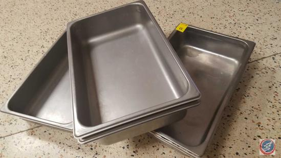 (6) Full Size Steam Table Pans