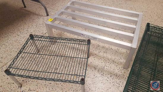 New Age Aluminum Dunnage Rack 36 x 24 x 12 in.; and 24 x 18 x 10 in. NSF Rack