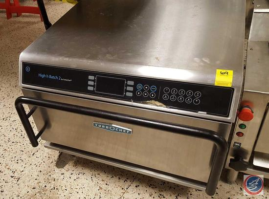 TurboChef High h Batch 2 High-Speed Accelerated Cooking Countertop Commercial Impingement Oven