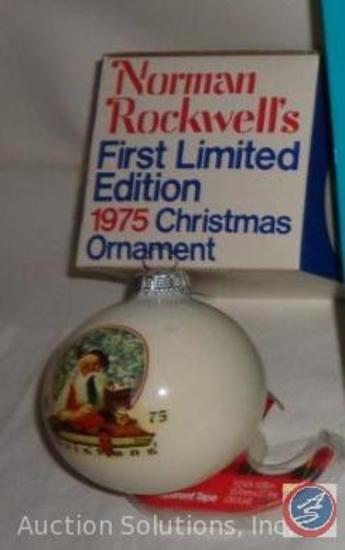 Norman Rockwell's 1975 First Limited Edition Christmas Ornament