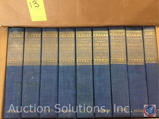 1955 Collection of ''Works of Abraham Lincoln'' Volume 1-8 + Index (Had to break seal to take