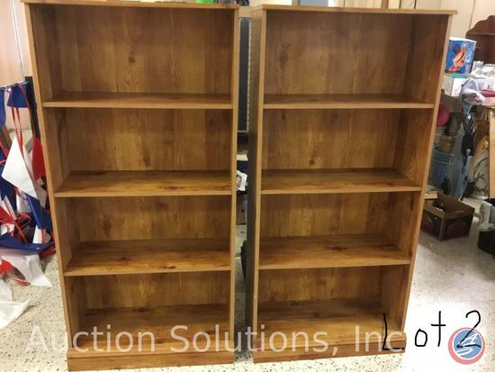 Two Bookcases - each 5'x29'' x13''