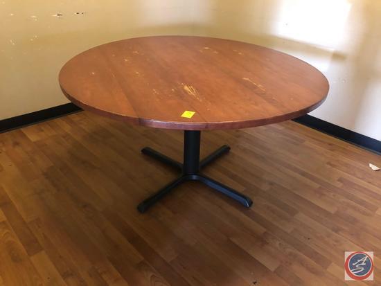"Round Pedestal Table Measuring 54"""