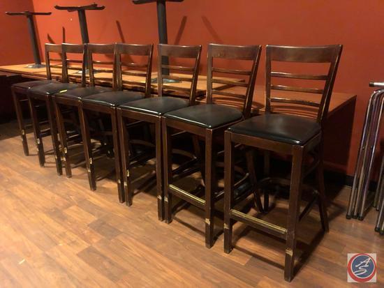 "{{7X$BID}} High Back Bar Chairs Measuring 44"""