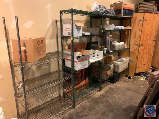 "{{3X$BID}} NSF Four Tier Wire Shelving Unit Measuring 35 1/2"" X 18"" X 68"", Metro Antimicrobial Four"