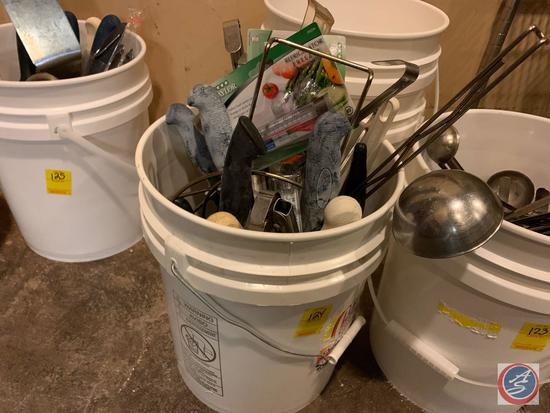 Tongs, Knives, Food Thermometers, Ladles and More in 5 Gallon Bucket