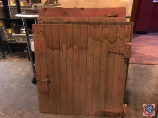 "{{4X$BID}} Barn Doors retrieved from a 100 year old Albion Barn Three Measuring 36"" X 38"" and One"