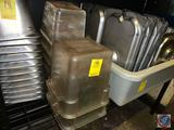 (2) Sysco Food Storage Containers [[NO LIDS]] and (2) Sysco Food Storage Containers
