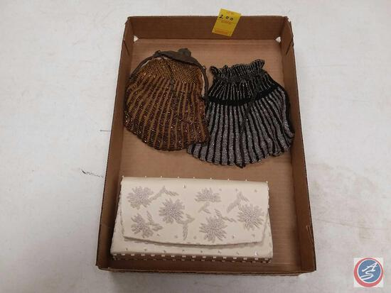 (3) Vintage Beaded Ladies Handbags