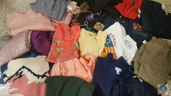 New Ladies Clothing Size Large and Extra-Large Includes: Capris, Sweaters, T-Shirts, and a Fleece